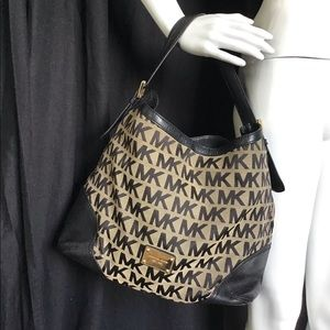 Michael Kors Leather Print Hobo Purse